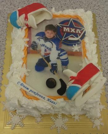 Торты с хоккейной тематикой фото