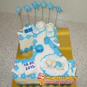 Торт в виде единицы своими руками