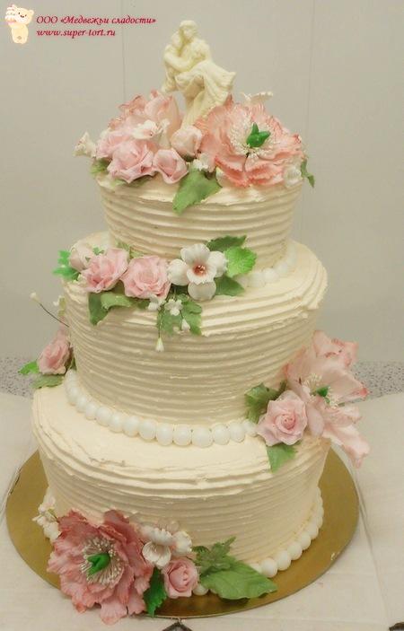 фото торт кремовый свадебный